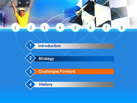 Cycling Race PowerPoint Template, Slide 3, 00104, Sports — PoweredTemplate.com