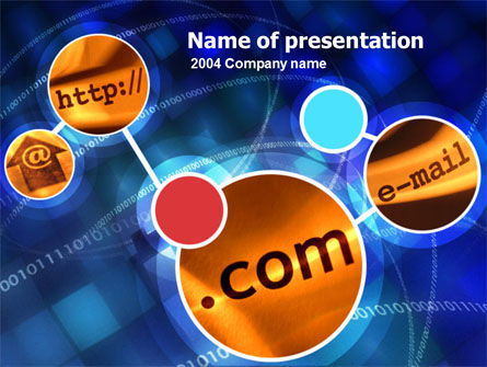 International Network PowerPoint Template, 00105, Technology and Science — PoweredTemplate.com