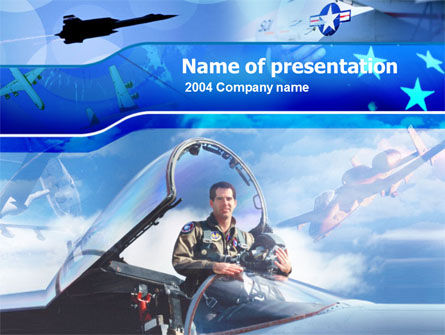 Military: Air Force PowerPoint Template #00108