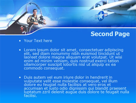 Air Force PowerPoint Template, Slide 2, 00108, Military — PoweredTemplate.com