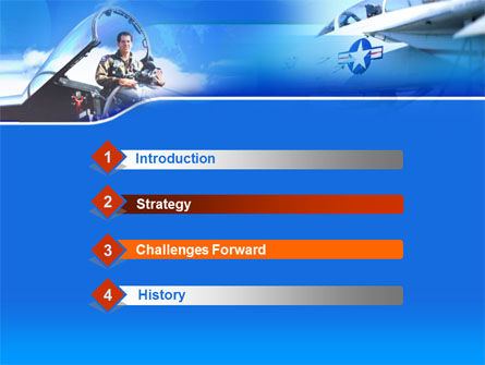 Air Force PowerPoint Template, Slide 3, 00108, Military — PoweredTemplate.com