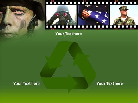 American Soldier PowerPoint Template Slide 10