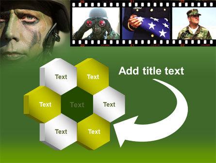 American Soldier PowerPoint Template Slide 11