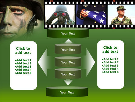 American Soldier PowerPoint Template Slide 13