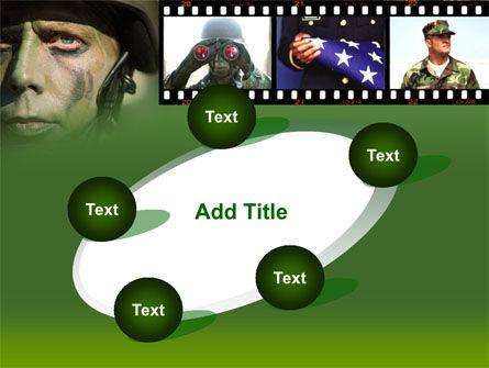 American Soldier PowerPoint Template Slide 14