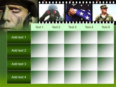 American Soldier PowerPoint Template Slide 15
