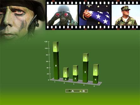 American Soldier PowerPoint Template Slide 17