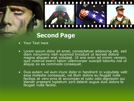 American Soldier PowerPoint Template Slide 2