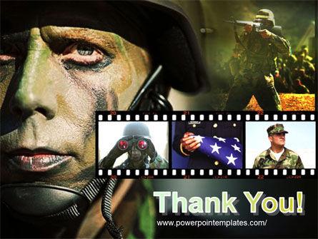 American Soldier PowerPoint Template Slide 20