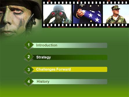 American Soldier PowerPoint Template Slide 3