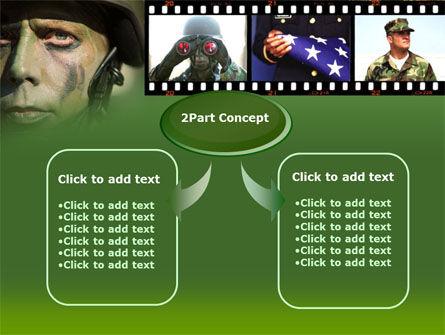 American Soldier PowerPoint Template Slide 4