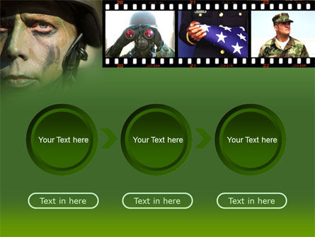 American Soldier PowerPoint Template Slide 5