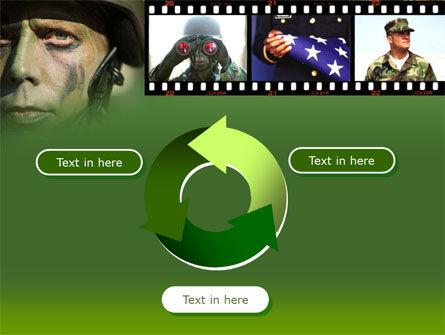 American Soldier PowerPoint Template Slide 9