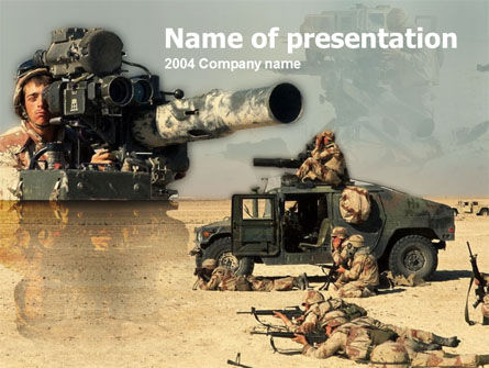 HMMWV PowerPoint Template, 00110, Military — PoweredTemplate.com