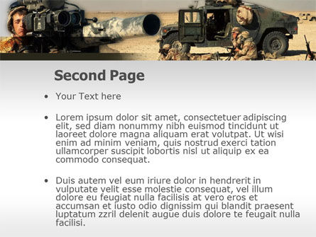 HMMWV PowerPoint Template, Slide 2, 00110, Military — PoweredTemplate.com