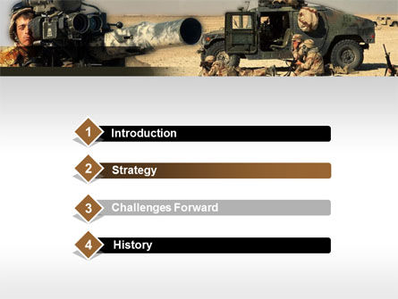 HMMWV PowerPoint Template, Slide 3, 00110, Military — PoweredTemplate.com