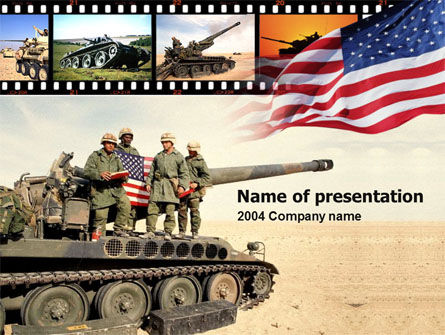 American Army PowerPoint Template