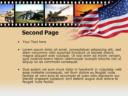 American Army PowerPoint Template Slide 2