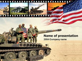 Military: American Army PowerPoint Template #00111