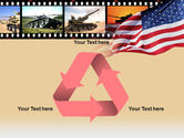 American Army PowerPoint Template#10