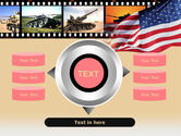 American Army PowerPoint Template#12