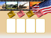 American Army PowerPoint Template#18