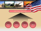 American Army PowerPoint Template#8