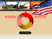American Army PowerPoint Template#9
