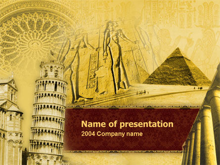 Historical Monuments Powerpoint Template Backgrounds 00113