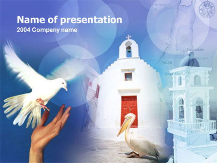 Religious/Spiritual: Greece PowerPoint Template #00115