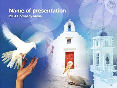 Religious/Spiritual: Templat PowerPoint Yunani #00115