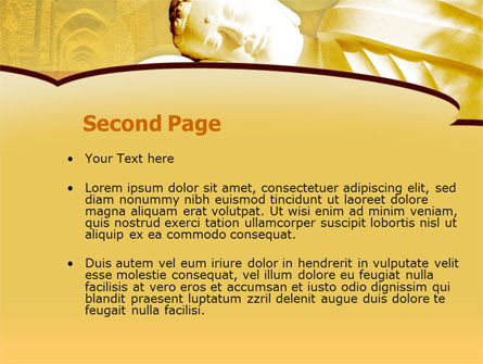 Sleeping Buddha PowerPoint Template Slide 2
