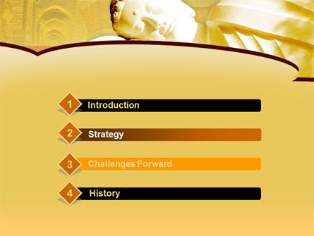 Sleeping Buddha PowerPoint Template Slide 3