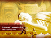 Sleeping Buddha PowerPoint Template#1