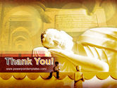Sleeping Buddha PowerPoint Template#20