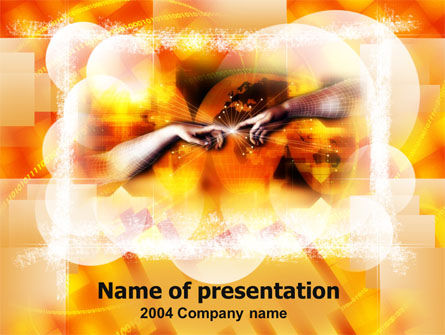 Creation PowerPoint Template, 00118, Art & Entertainment — PoweredTemplate.com