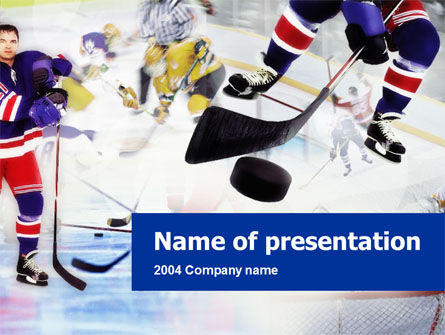 Sports: Templat PowerPoint Hoki Es #00119