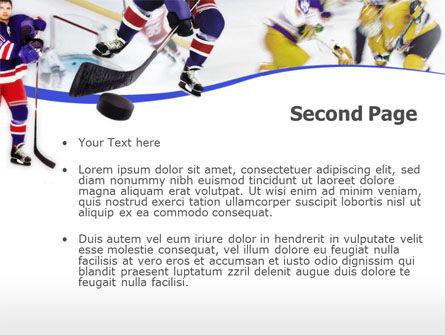 Ice Hockey PowerPoint Template, Slide 2, 00119, Sports — PoweredTemplate.com