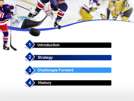 Ice Hockey PowerPoint Template, Slide 3, 00119, Sports — PoweredTemplate.com
