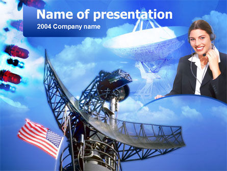 Telecommunication: Radio Transmission PowerPoint Template #00120