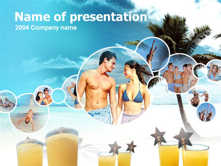 Holiday/Special Occasion: Beach Party PowerPoint Template #00121