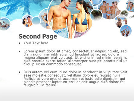 Beach Party PowerPoint Template Slide 2