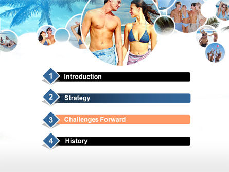 Beach Party PowerPoint Template, Slide 3, 00121, Holiday/Special Occasion — PoweredTemplate.com