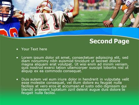 American Football PowerPoint Template, Slide 2, 00122, Sports — PoweredTemplate.com