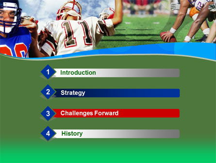 American Football PowerPoint Template, Slide 3, 00122, Sports — PoweredTemplate.com