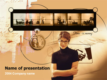 Business: Modern Business Conversation PowerPoint Template #00123