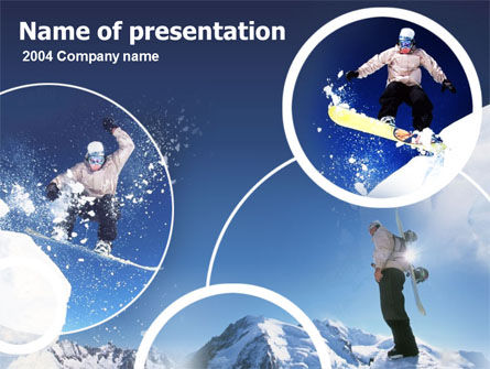Snowboarding PowerPoint Template, 00124, Sports — PoweredTemplate.com