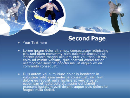 Snowboarding PowerPoint Template Slide 2