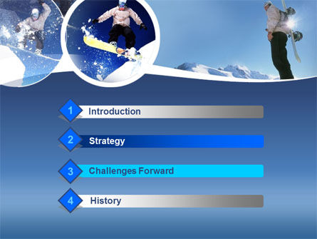 Snowboarding PowerPoint Template, Slide 3, 00124, Sports — PoweredTemplate.com