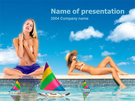 Sunbathing PowerPoint Template, 00126, Health and Recreation — PoweredTemplate.com
